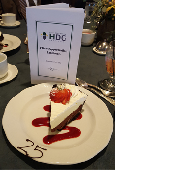2017 Client Appreciation Luncheon - Dessert and Program