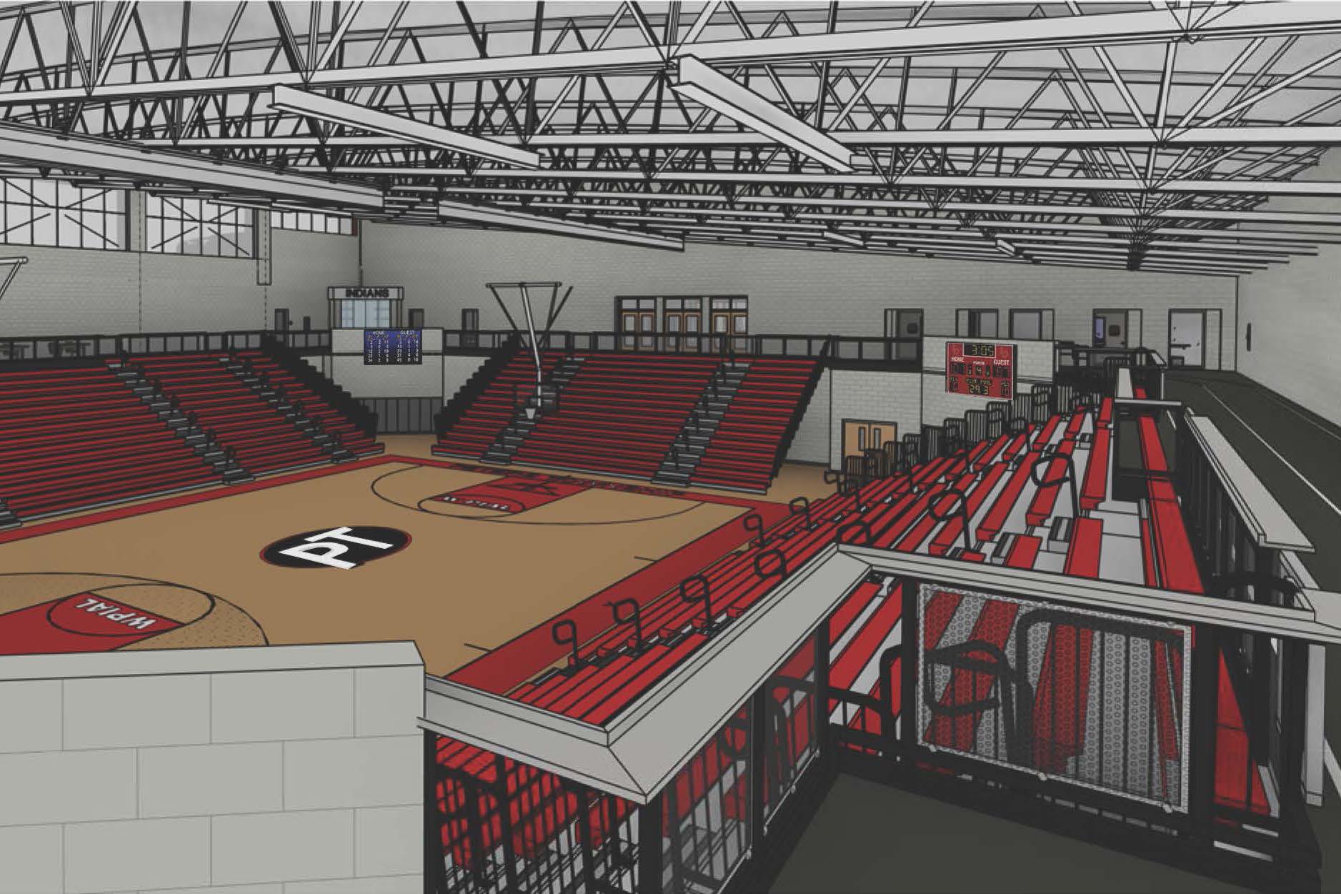 Interior Rendering – Gymnasium